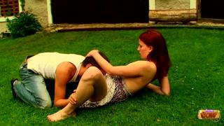 Novinho faz sexo papai mamãe com ruivinha safadinha